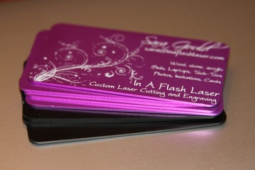 Aluminum Business Cards In A Flash Laser Ipad Laser