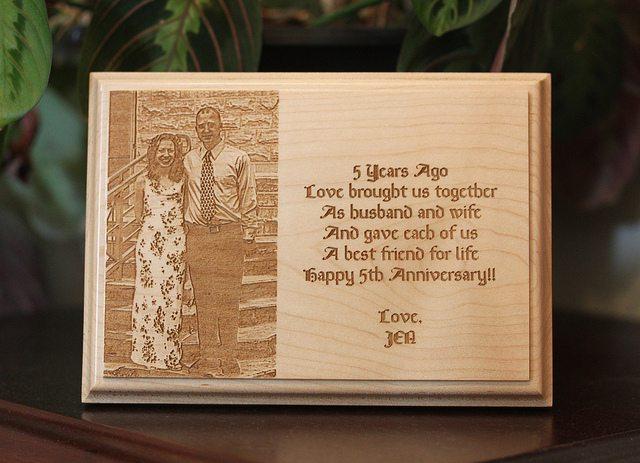 Wood Gift Ideas 5th Wedding Anniversary: 5th Anniversary Wood