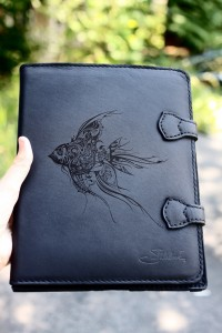 Custom Laser Engraved Saddleback Leather iPad Case