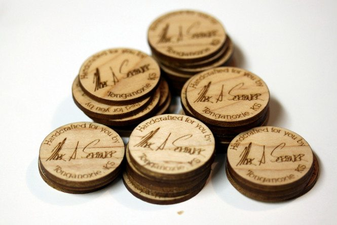 Custom engraved wooden circles
