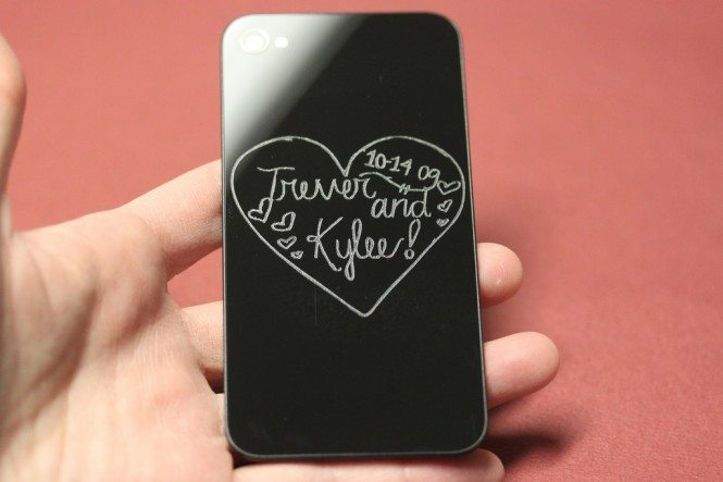 Engraved iPhone 4 back