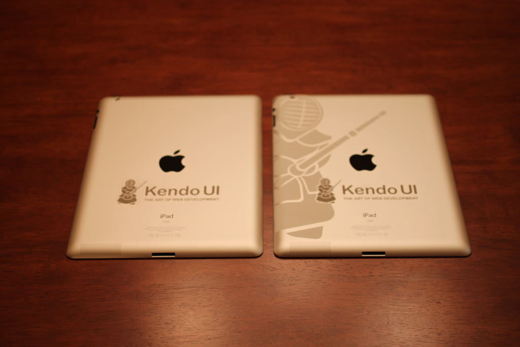 Two color iPad Engraving