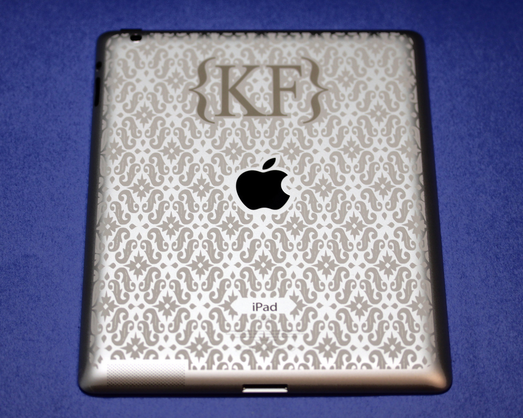 Two-Color iPad Engraving