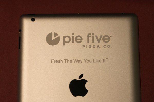 Pie Five iPad Engraving