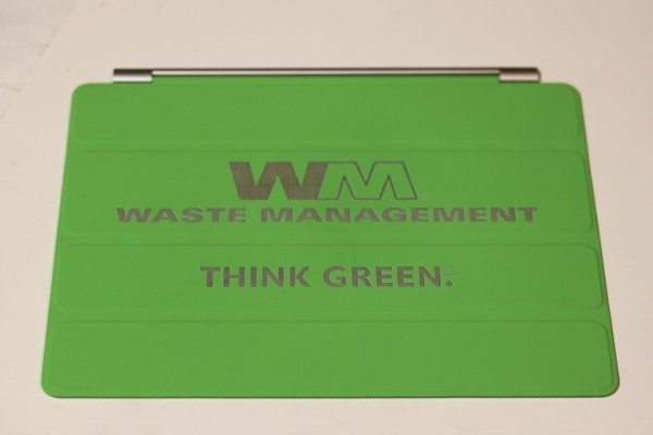 separation shoes 43995 de47b Waste Management Green Custom iPad Cover - In A Flash Laser - iPad ...