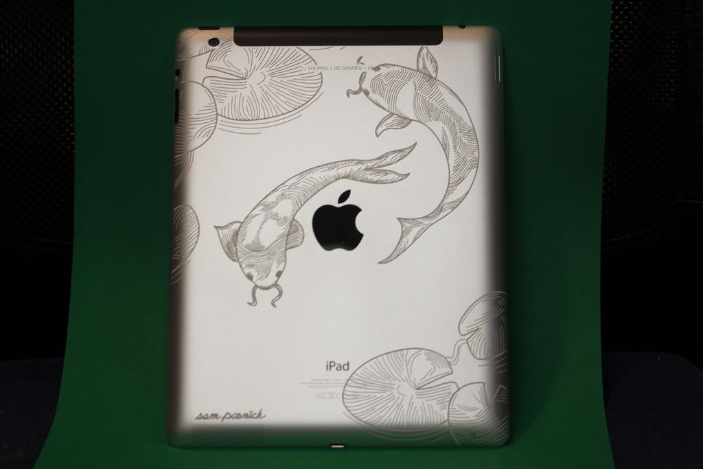 Koi Engraving on iPad