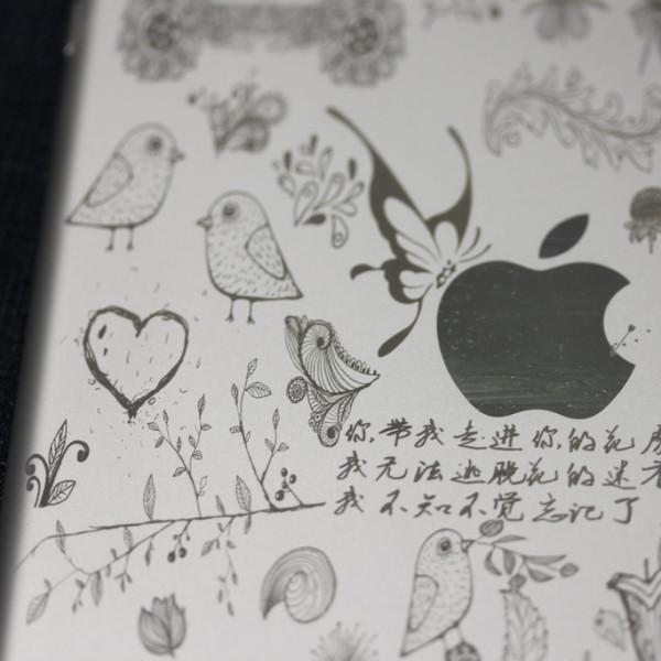 Detailed iPad mini engraving