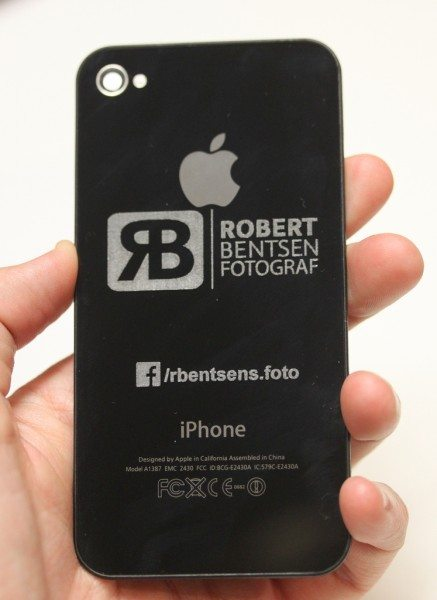 Engraved iPhone back