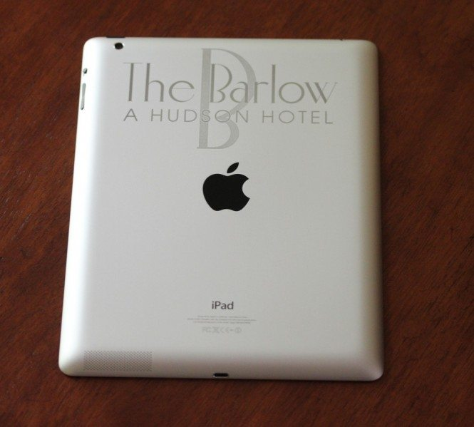 Laser Engraved iPad for Hospitality Industry