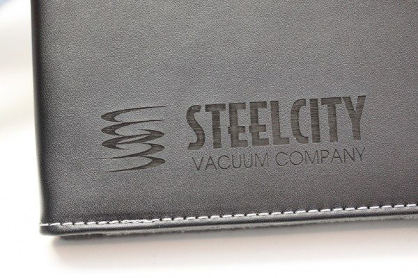 Logo Engraved on to EcoVue iPad Case