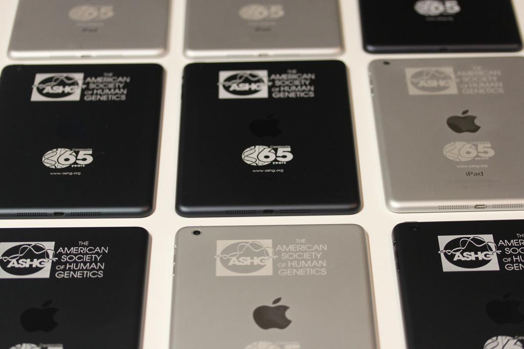 Silver and Slate iPad mini engraving