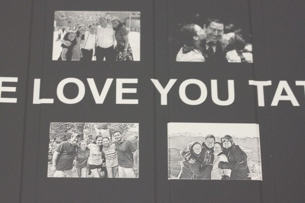 Small photos laser etched onto iPad Smart Case