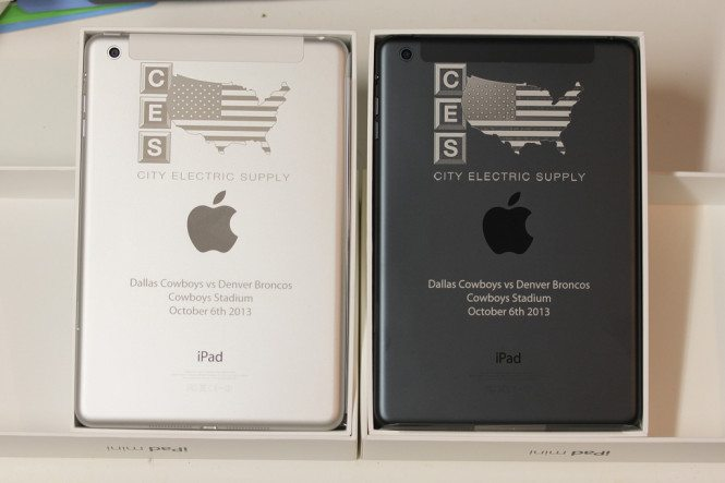 Engraved Silver and Slate iPad minis