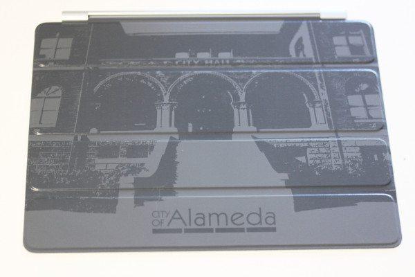 Custom Engraved Dark Gray iPad Smart Cover