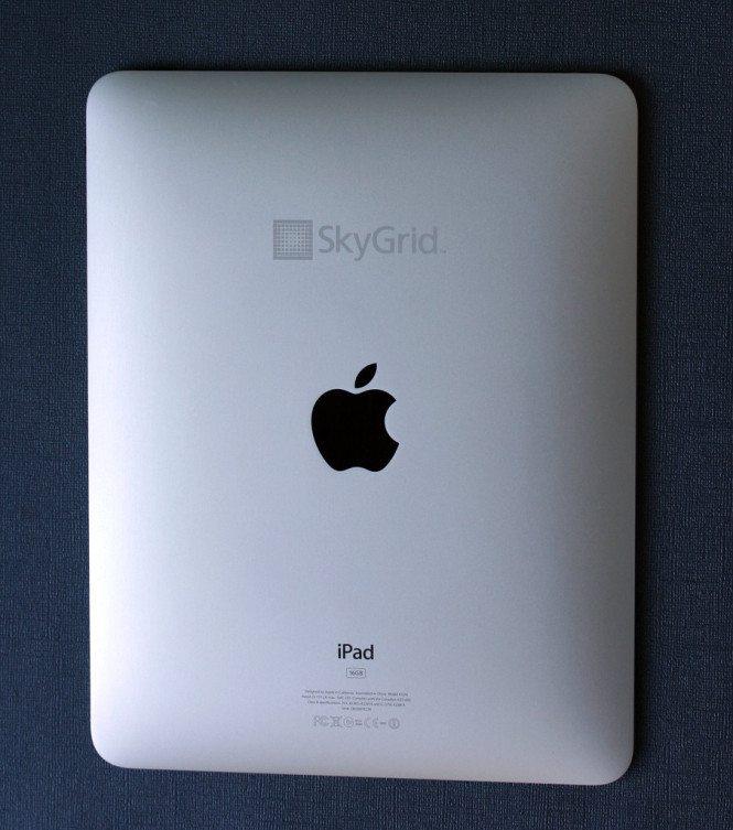 Engraved iPad - SkyGrid Logo