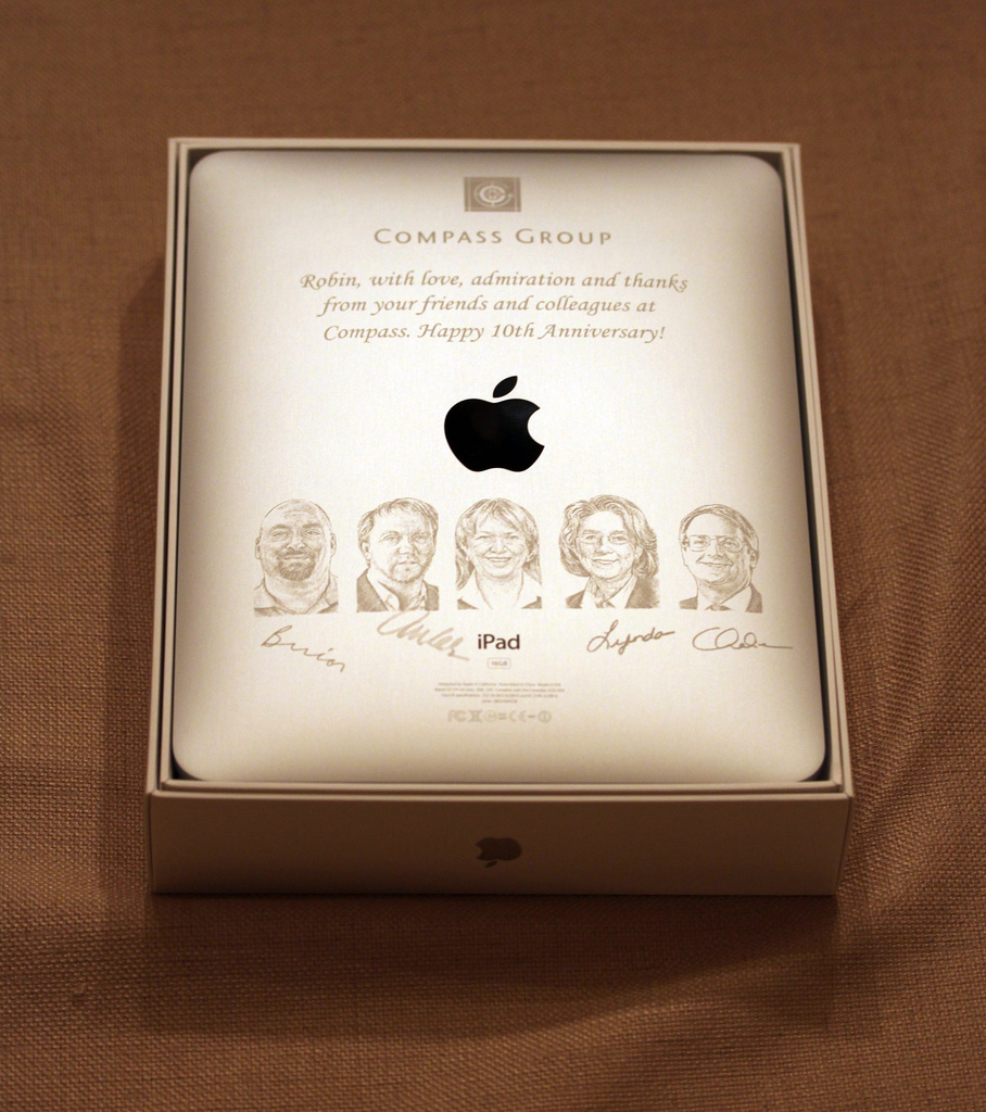 Engraved iPad for Compass Group