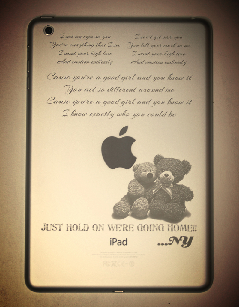 Personalized iPad mini engraving