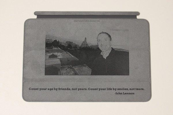 iPad mini Smart Cover photo engraving