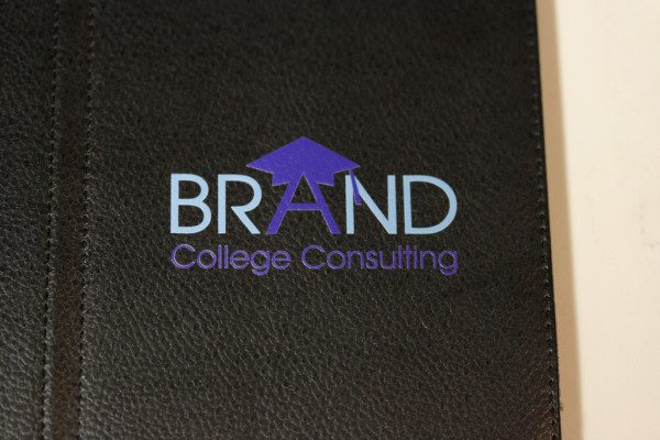 Color Marked Logo on Leather iPad Case