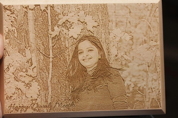 Engraved Photo On Wood In A Flash Laser Ipad Laser