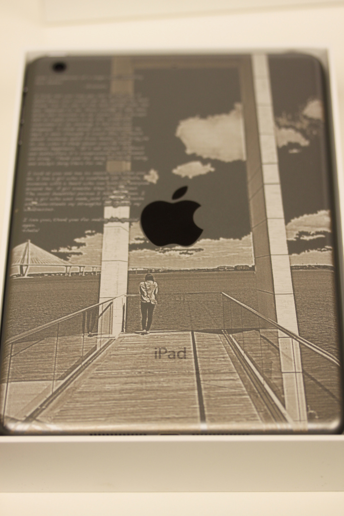 Laser Engraved iPad mini in Space Gray