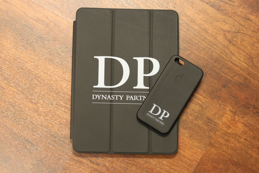 Custom Leather iPad Air and iPhone 5 cases