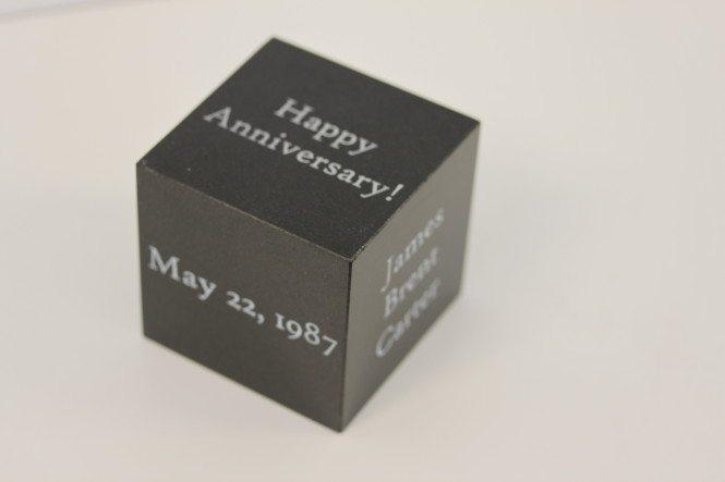 Anniversary Granite Cube