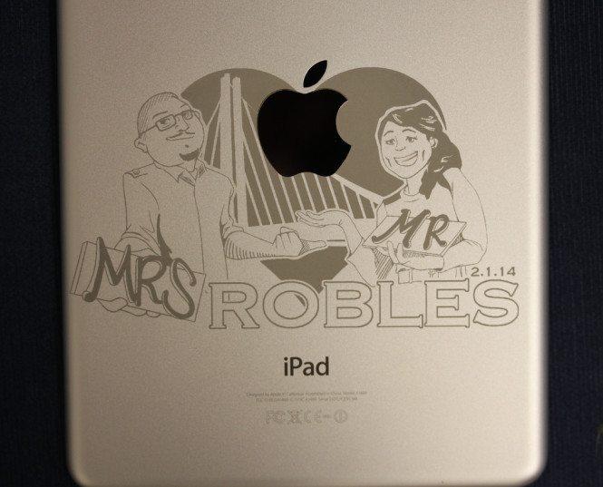 Mr. & Mrs. iPad Engraving