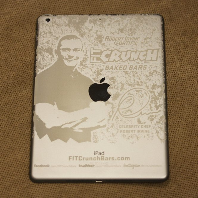 Space Gray iPad Air Engraved With Gray Mark