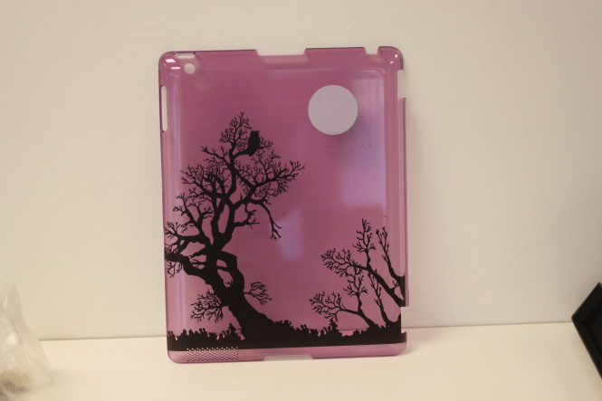 Custom Printed Translucent Purple iPad Back Case