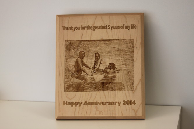 Wood Gift for 5 Year Anniversary