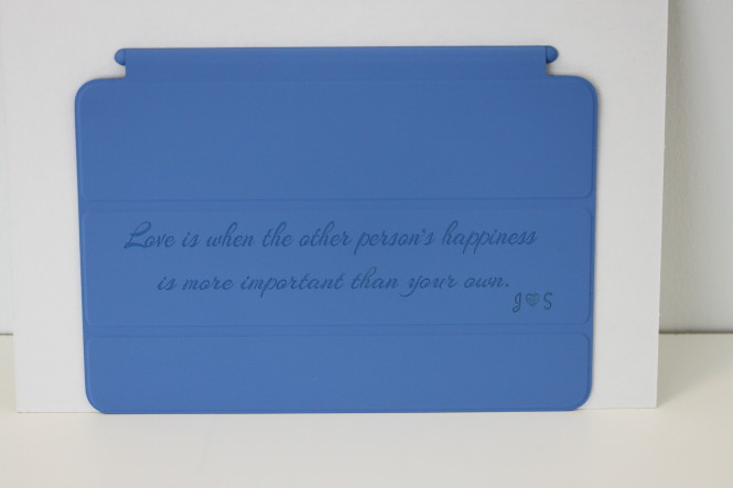 Engraved iPad mini Smart Cover 1