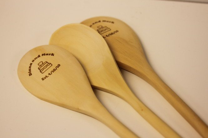 5 Year Anniversary Wooden Spoons In A Flash Laser
