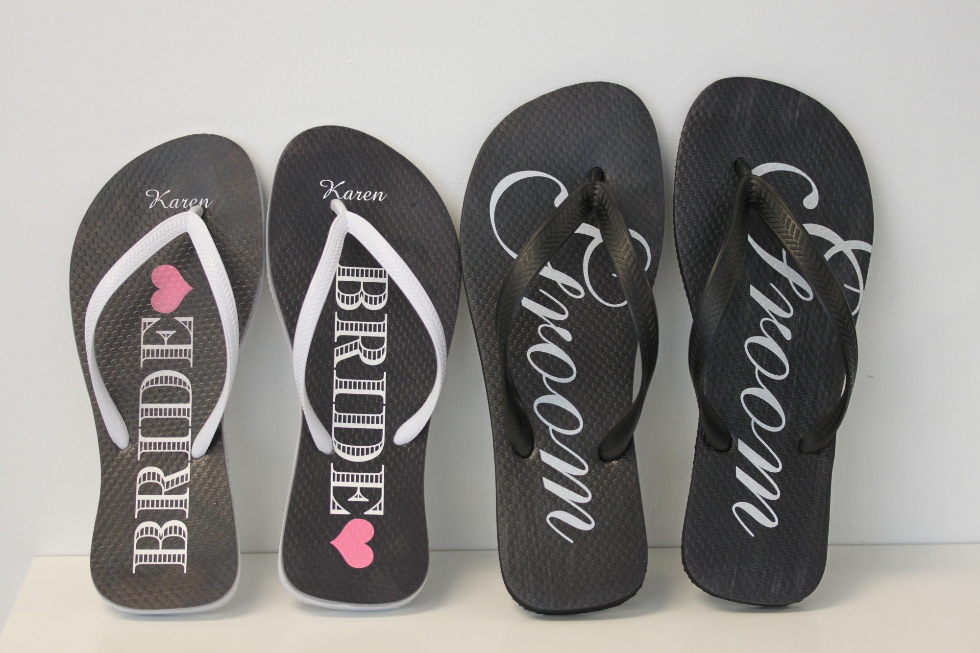 Wedding Party Flip Flops - In A Flash Laser - iPad Laser Engraving ...