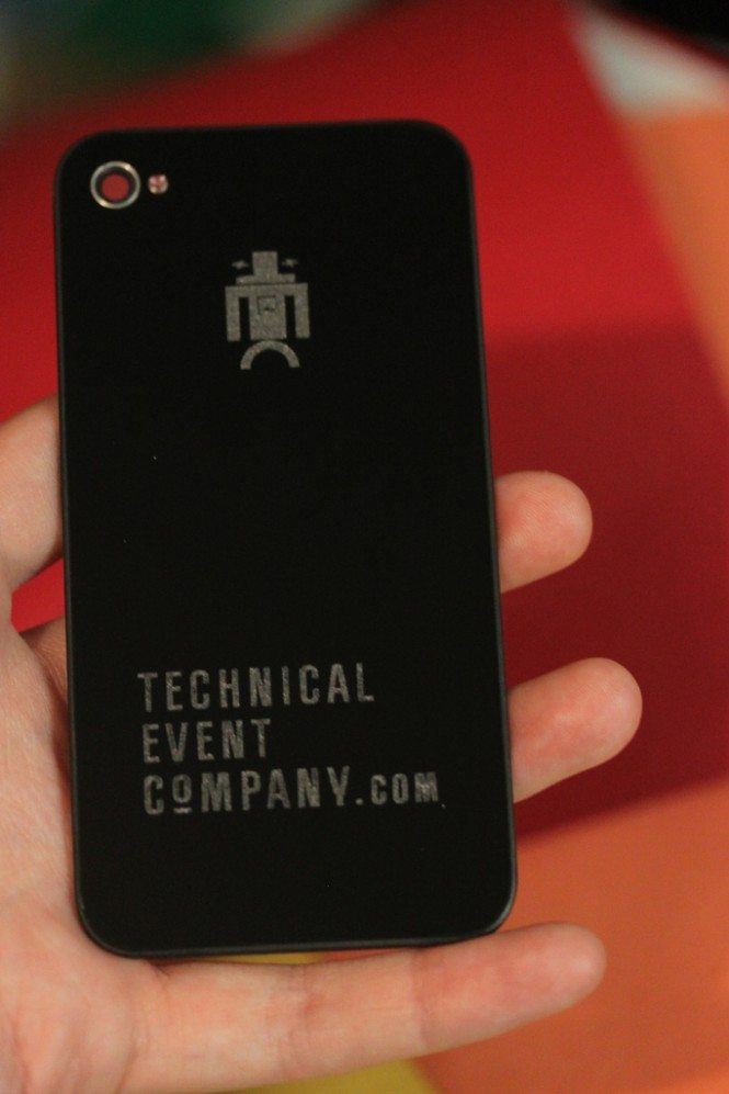 Laser etched iPhone back for 4S