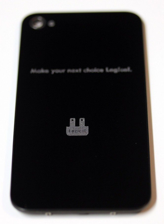 Engraved iPhone 4S back glass
