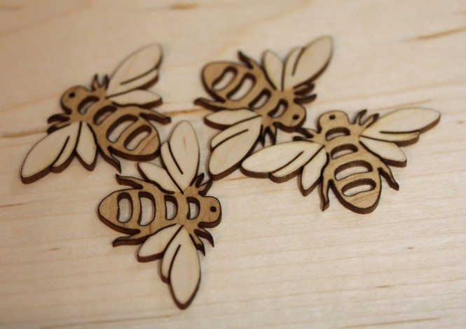 Laser-cut bees