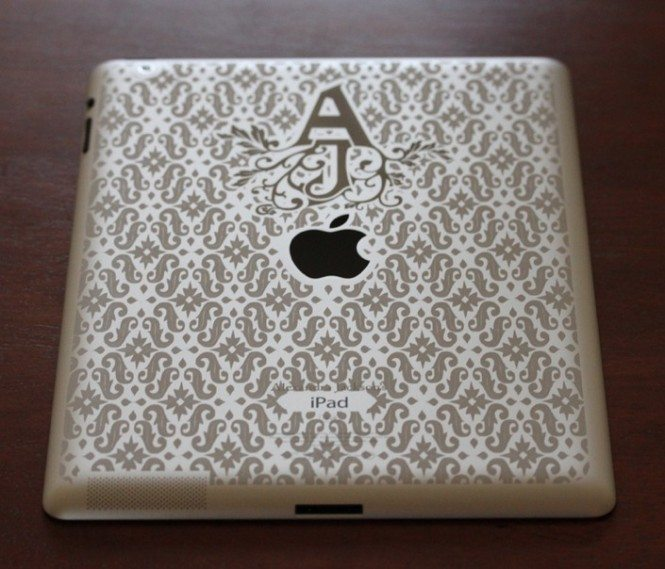 Patterned iPad Engraving