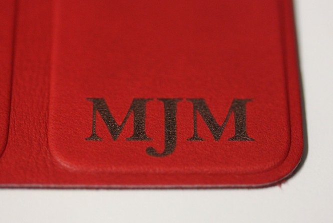 Red Leather Smart Cover - Monogram