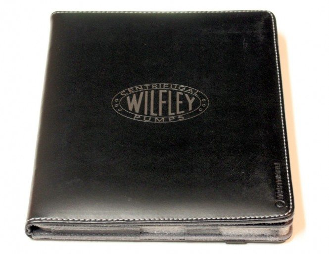 Logo on Eco-Vue Leather iPad Case