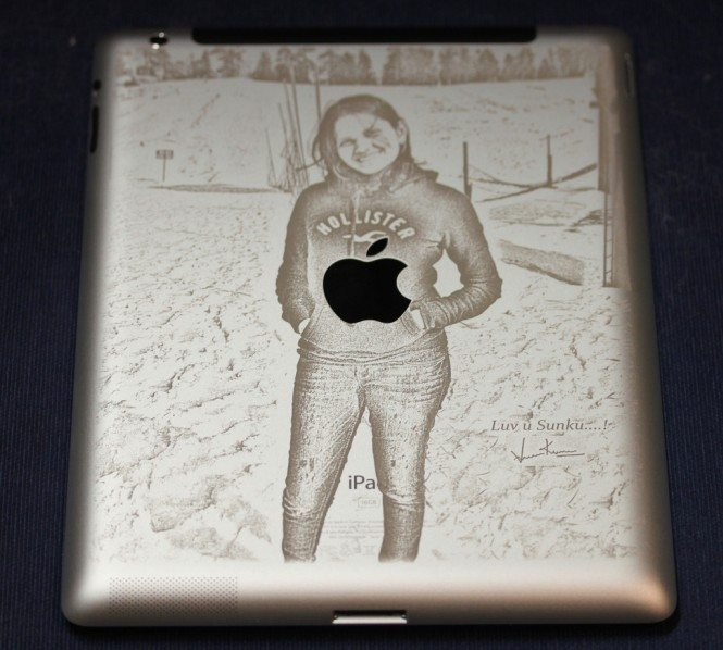 Photo engraved on iPad