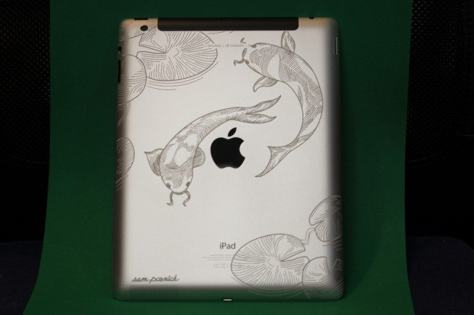 Koi Engraving on iPad