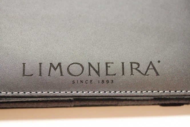 Laser engraved logo on iPad case