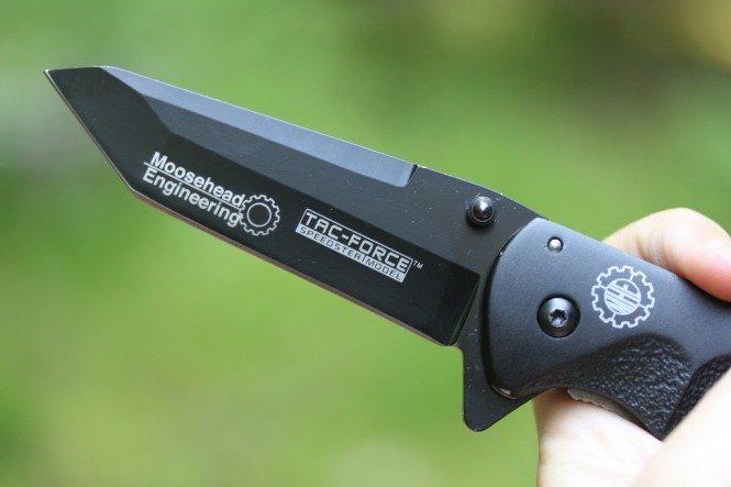 Laser engraved knife blade