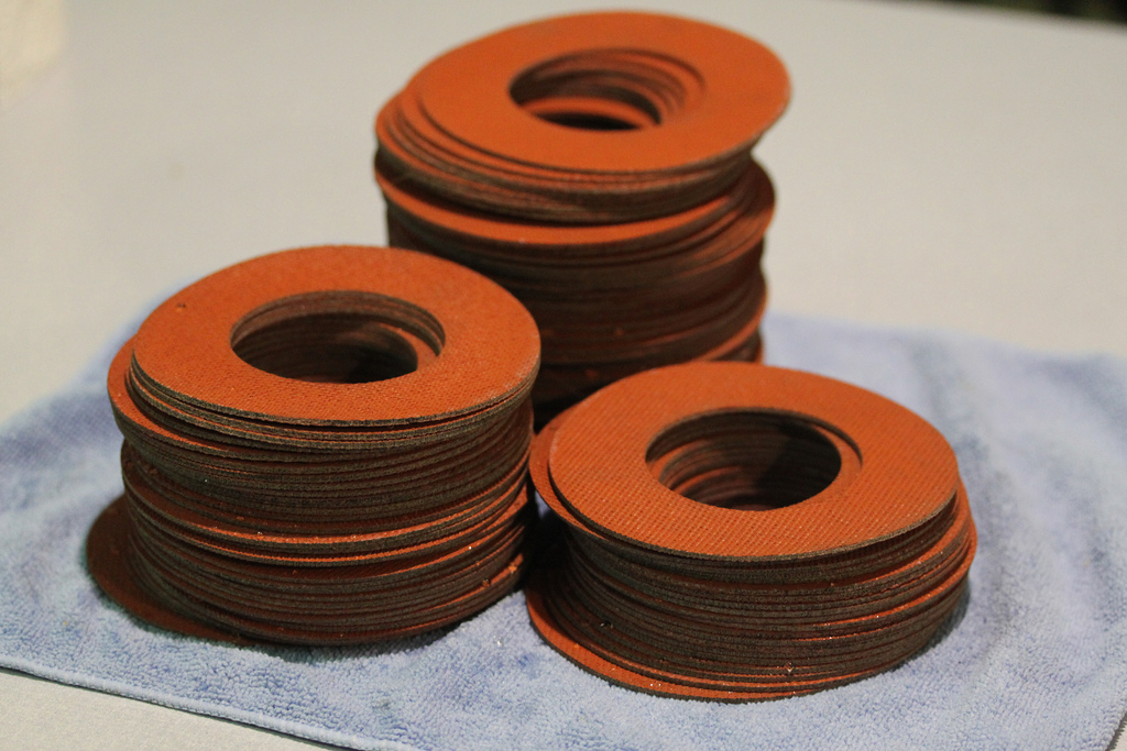 Custom laser-cut silicone foam gaskets