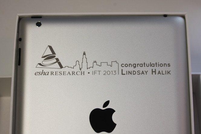 Congratulatory iPad Engraving