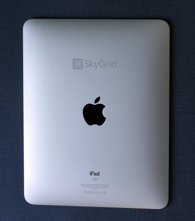 Engraved iPad - SkyGrid Logo
