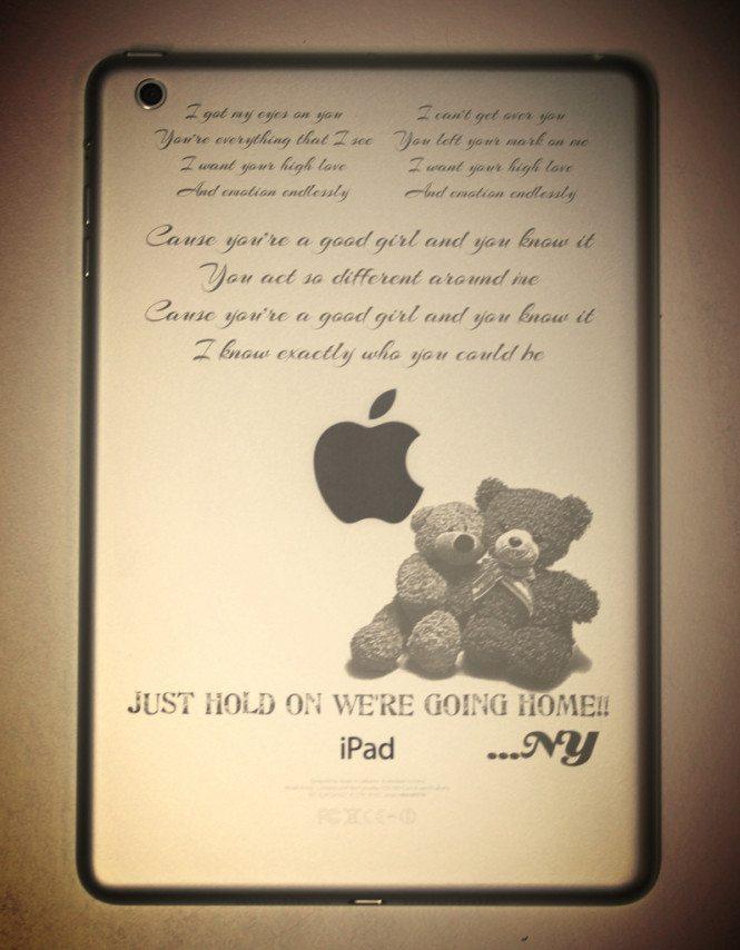 Personalized iPad mini engraving