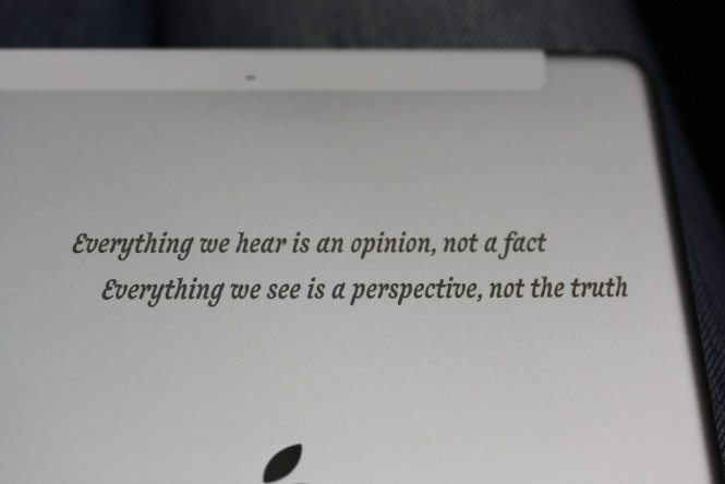 Quote Laser Engraved on iPad Air