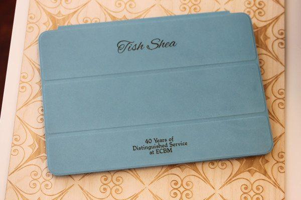Laser Engraved Blue Leather Smart Case